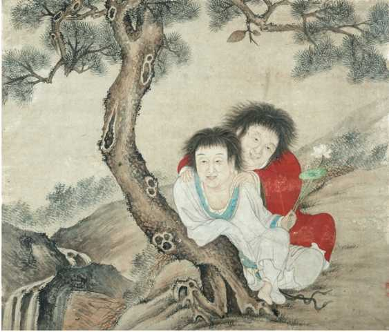 Hanshan and Shide under a pine tree - photo 1