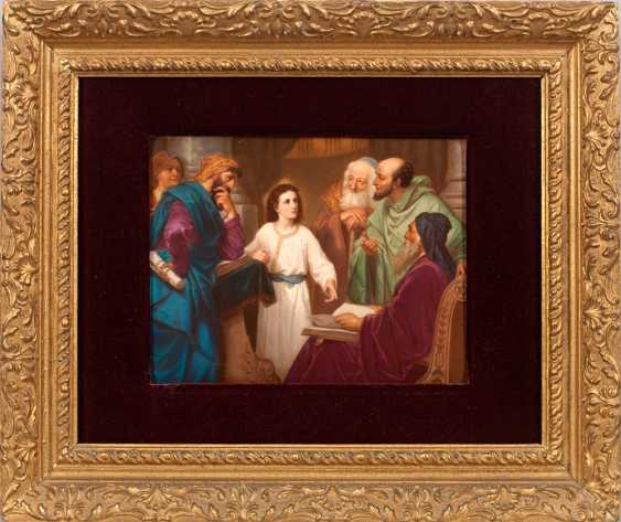 "Porcelain painting ""Jesus boy in the temple"" - photo 1"