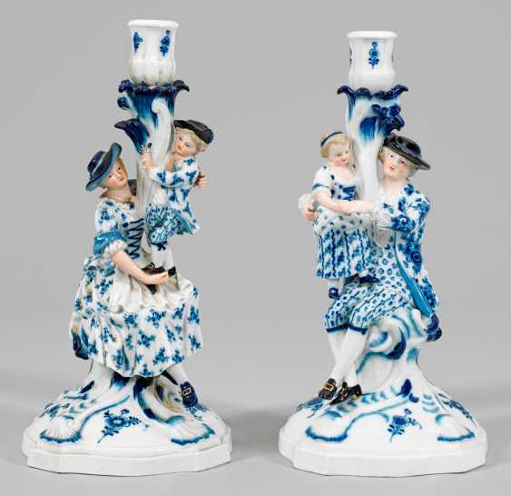 Pair of large figural candlesticks - photo 1