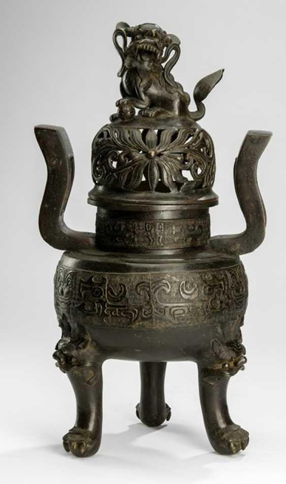 Incense burner Ding shape with lid - photo 1
