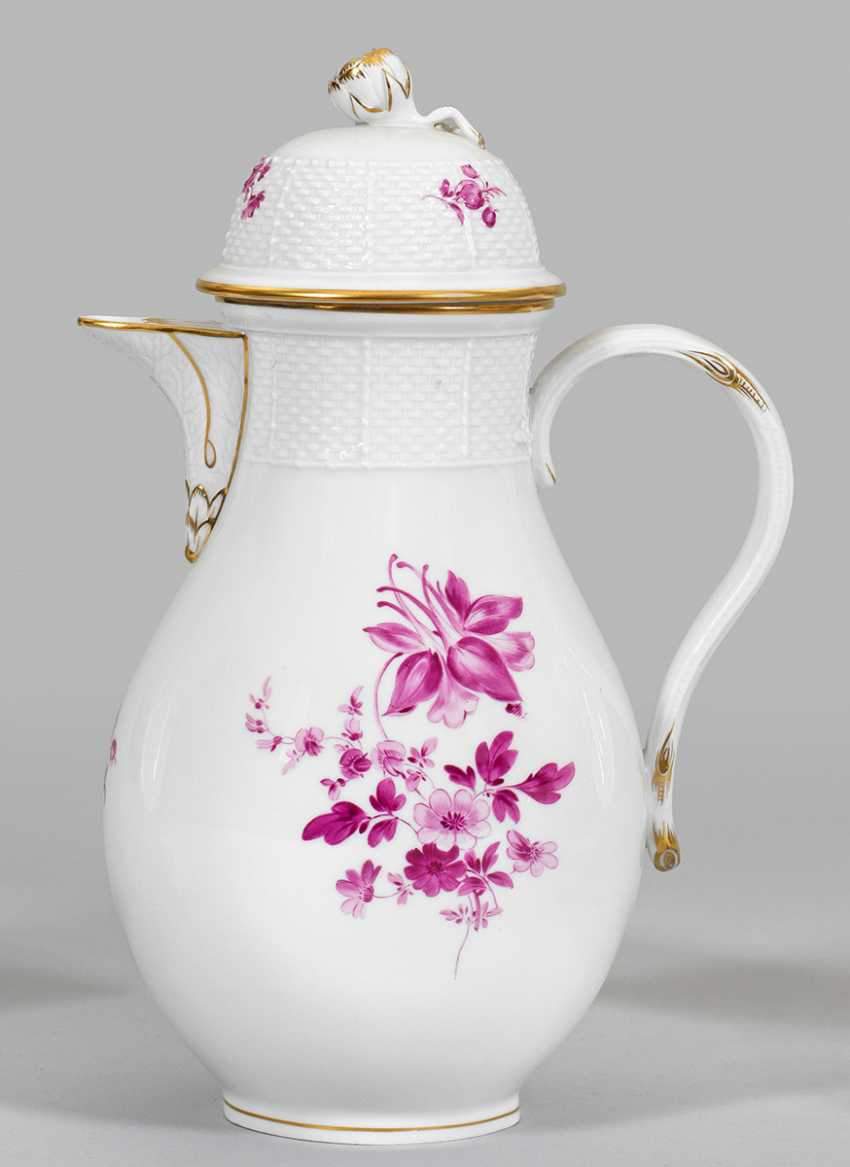Large coffee pot with flower decor - photo 1