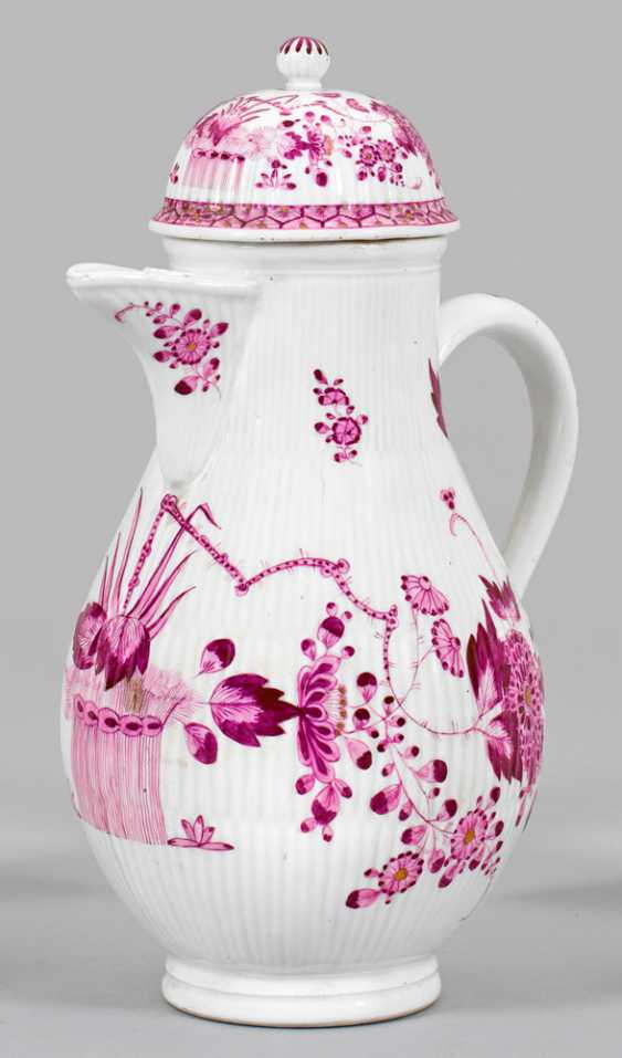 Large coffee pot with Indian flower decor - photo 1