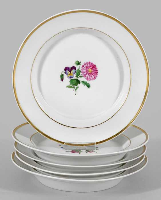 Five dessert plate with floral decor - photo 1