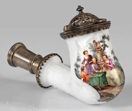 Pipe head with Watteau painting - photo 1