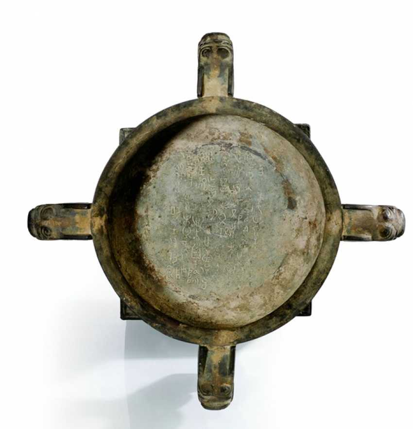 Ritual vessel of the type 'gui' is the Bronze in the style of the Zhou dynasty - photo 2