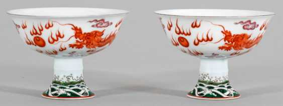Pair of footrests with dragon decoration - photo 1