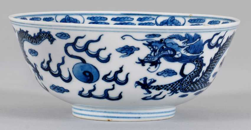 Blue-and-white-Kumme with dragon decoration - photo 1