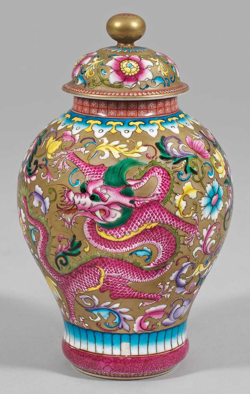 Small baluster vase with dragon decoration - photo 1