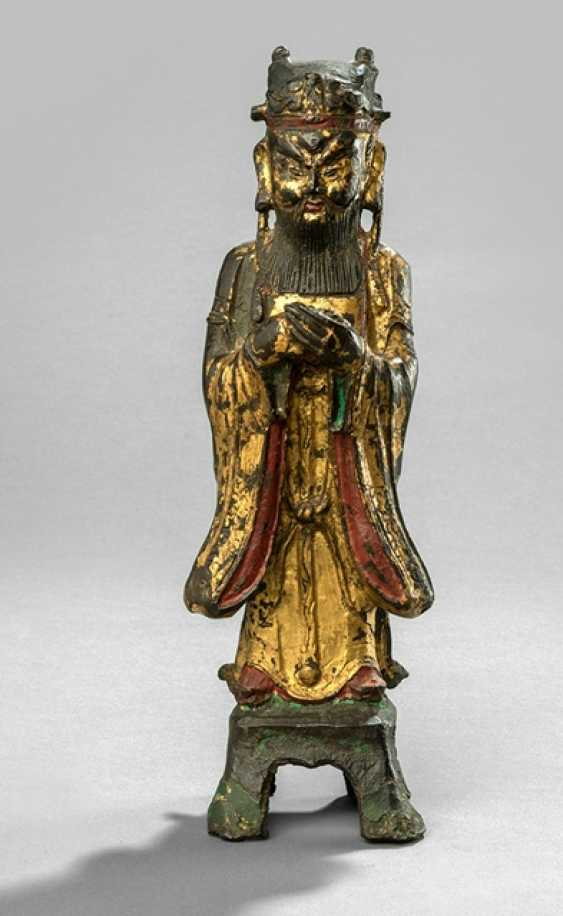 Lacquer gilt Bronze of an Immortal - photo 1