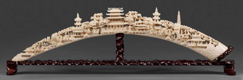Magnificent Ivory Carving Of The - photo 1