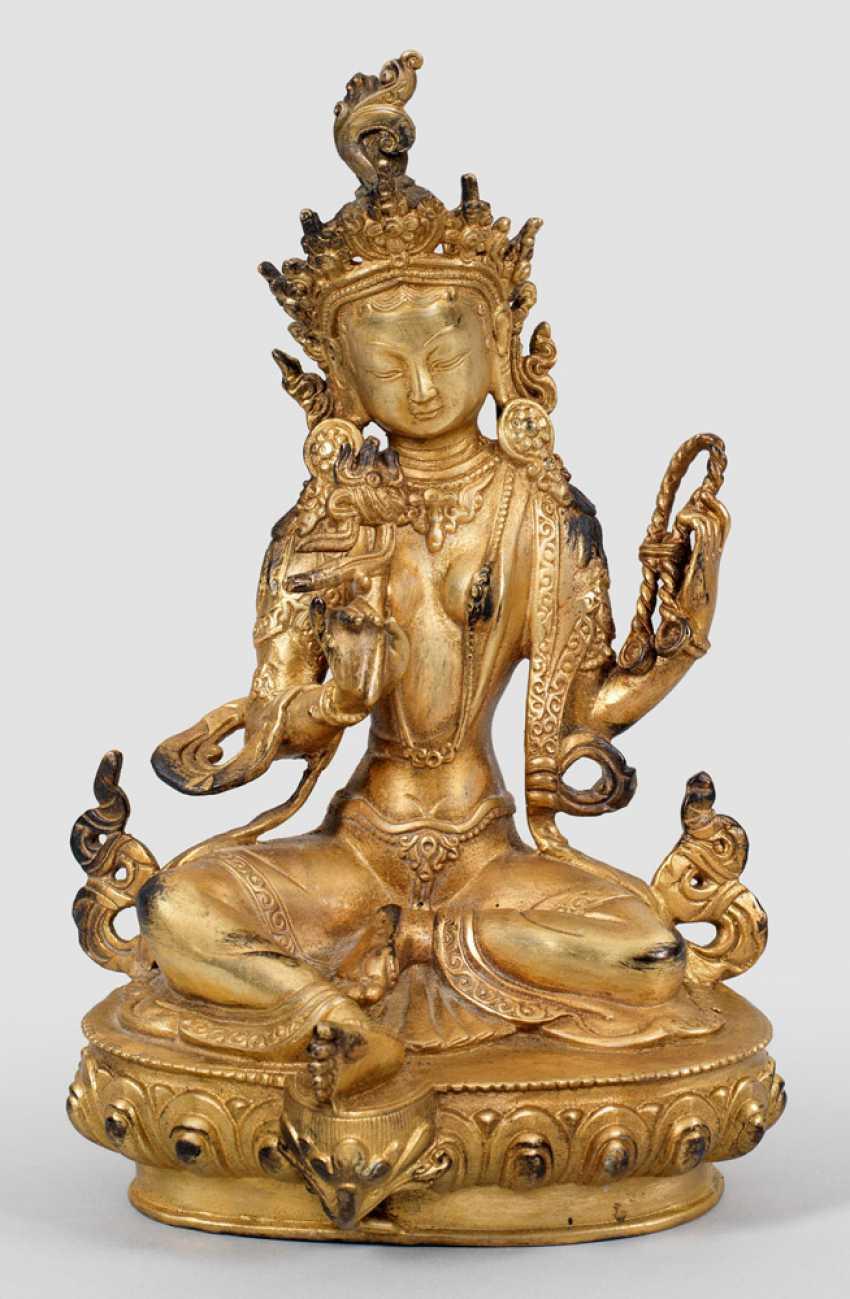 Tibeto-Chinese Buddha Figure - photo 1