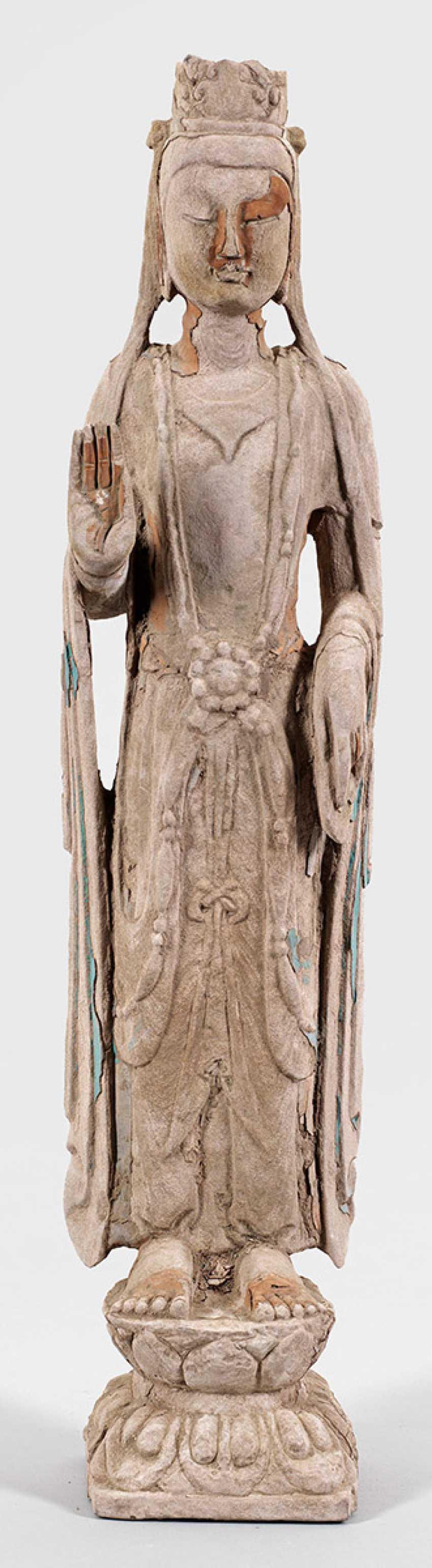 Big Guanyin-Sand Stone Statue - photo 1
