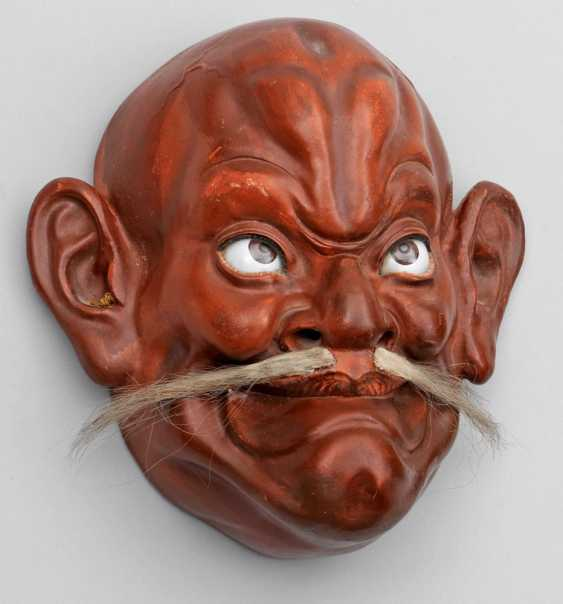 Noh-mask of a bearded man - photo 1