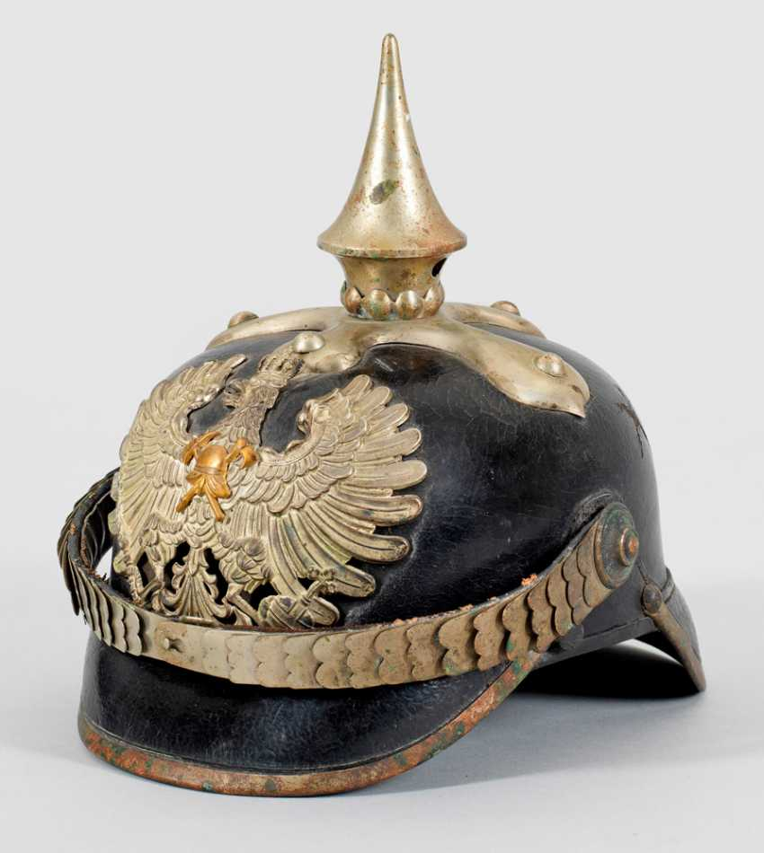 Prussian spiked helmet of the fire brigade - photo 1