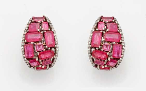 Few Russian ruby clip-on earrings - photo 1