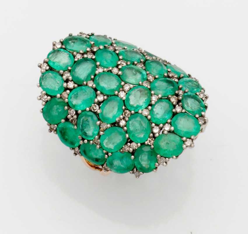 Extravagant Russian emerald ring - photo 1
