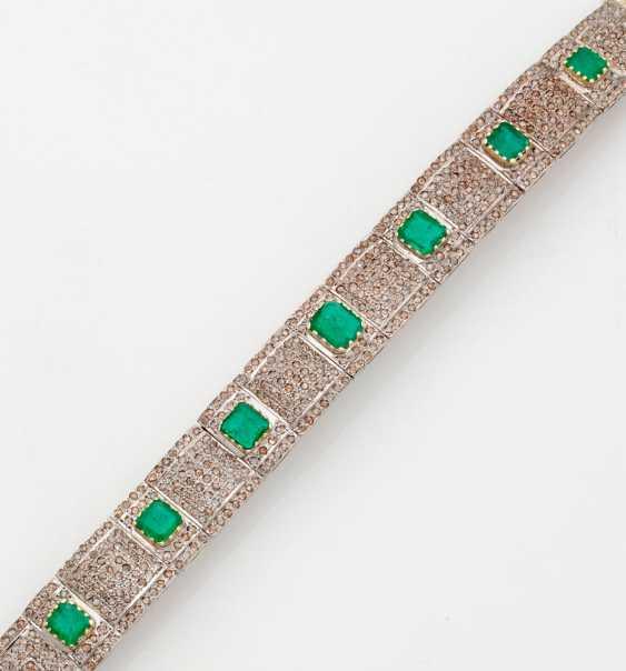 Magnificent Emerald And Diamond Bracelet - photo 1