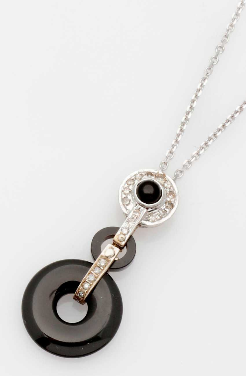 Art Deco-Onyx-Necklace - photo 1
