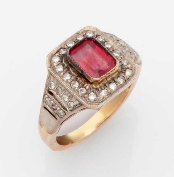 Victorian Ruby Diamond Ring - photo 1