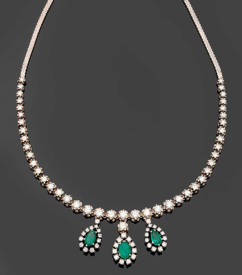 Representative Of Emerald And Brilliant Necklace - photo 1