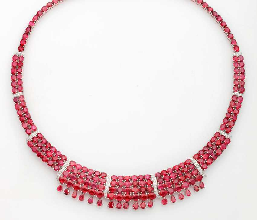 Magnificent ruby necklace with diamonds - photo 1