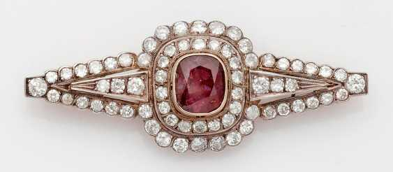 Magnificent Ruby And Diamond Brooch - photo 1