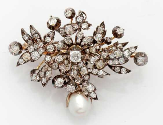Belle Epoque-trembling brooch with diamonds - photo 1