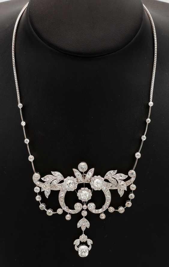 Magnificent Art Nouveau Diamond Necklace - photo 1