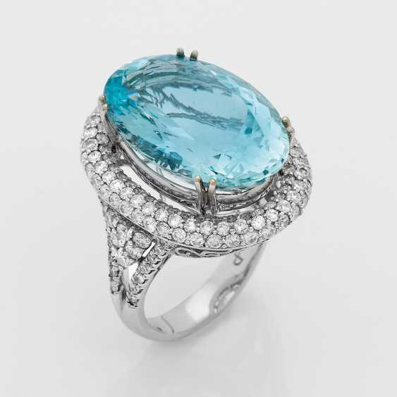 High-Quality Aquamarine Ring - photo 1