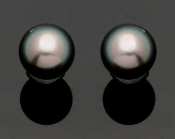 Pair Of Tahitian Pearl Earrings - photo 1