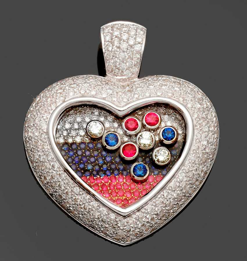 Large Diamond Heart Pendant - photo 1