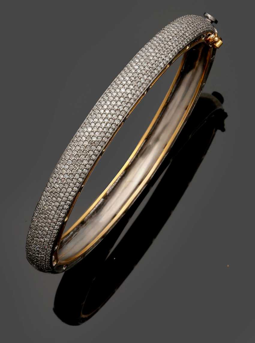 Elegant Russian diamond bangle - photo 1