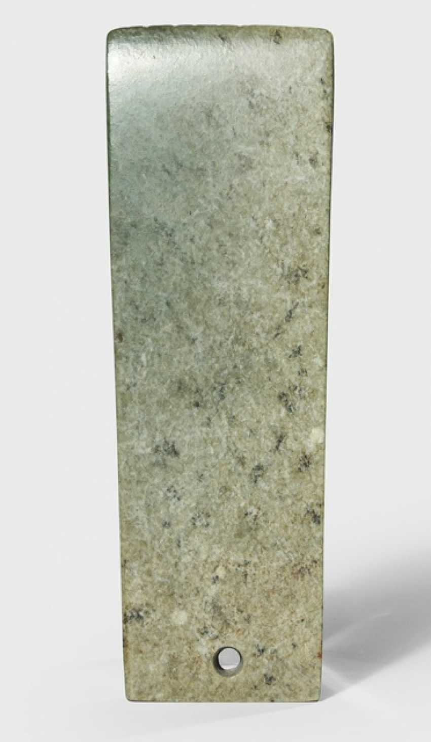 Gray-green ceremonial blade made of Jade - photo 1