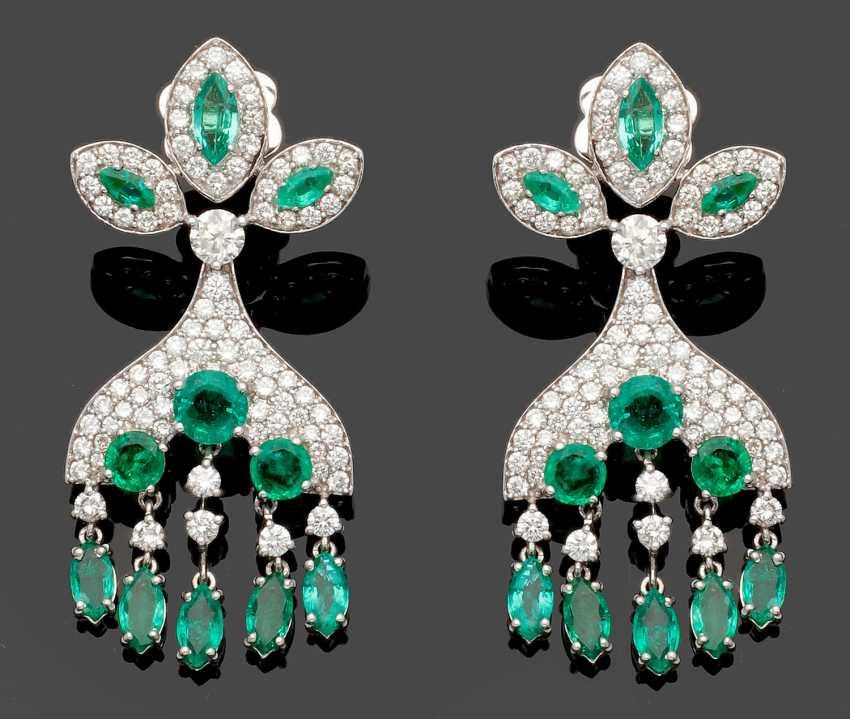 Paar Smaragd-Chandeliers - photo 1