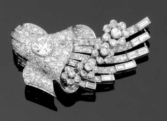 Art Deco-Diamantbrosche - photo 1