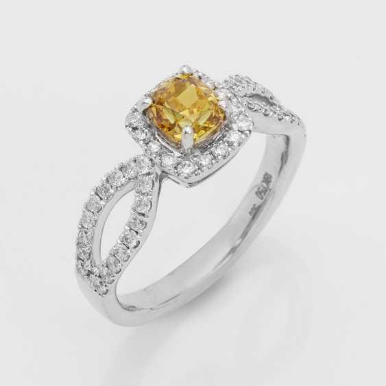 Orange-Yellow-Diamant-Solitärring - photo 1