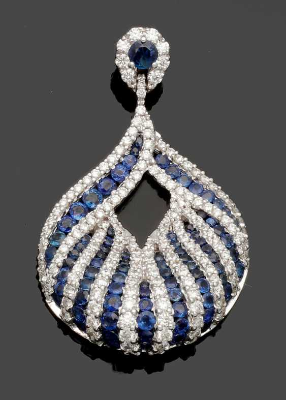 Elegant Sapphire And Diamond Pendant - photo 1