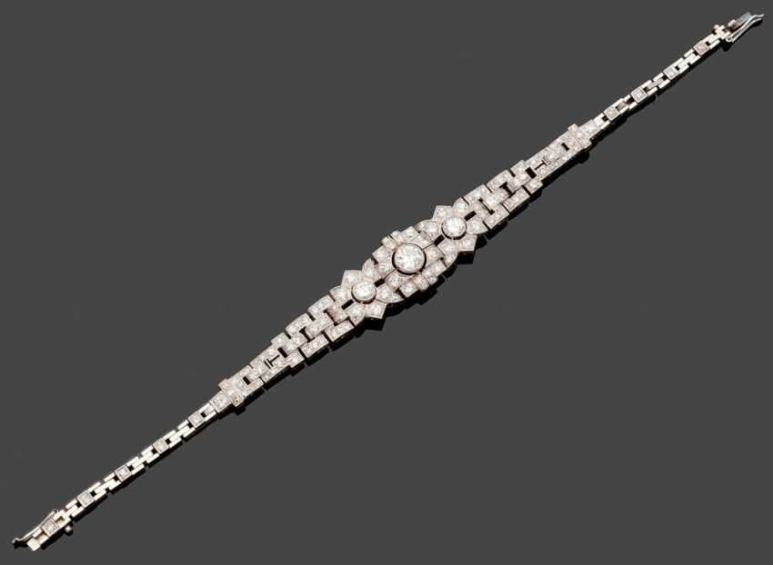 Art Déco-Diamantarmband - photo 1