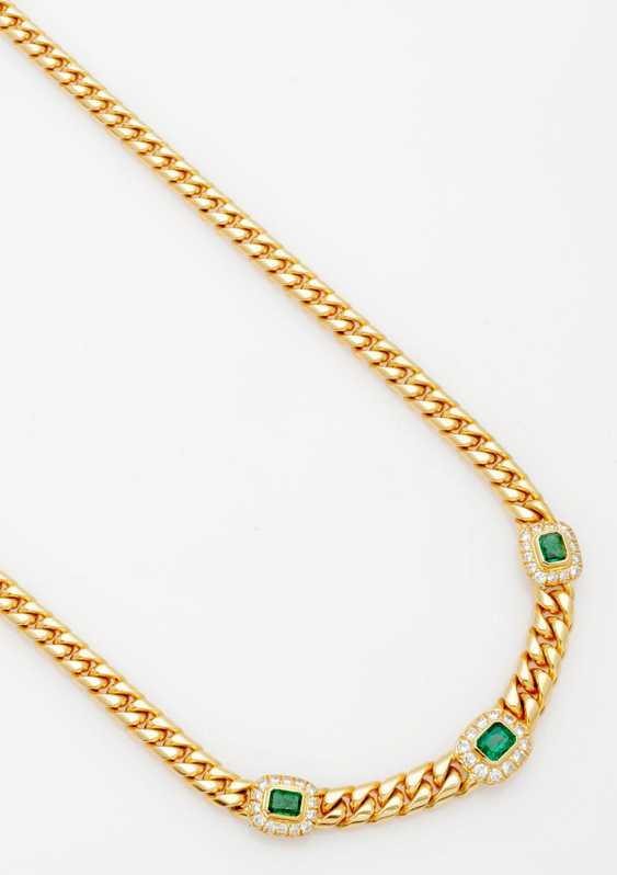 Classic Emerald And Brilliant Necklace - photo 1