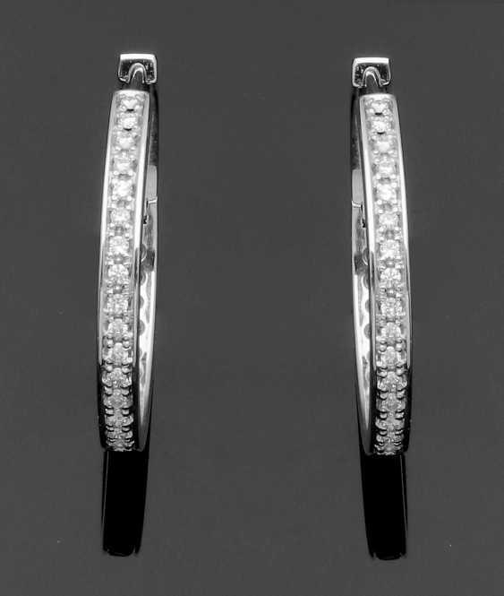 Pair Of Diamond Hoop Earrings - photo 1