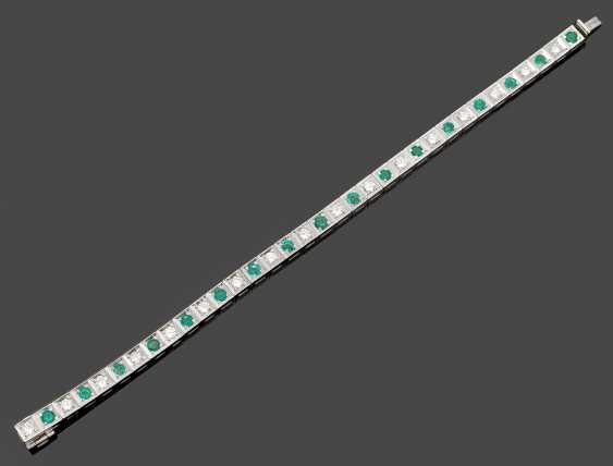 Classic Emerald And Brilliant Bracelet - photo 1