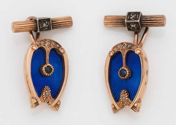 Pair of cuff buttons from the princely house of Wied - photo 1