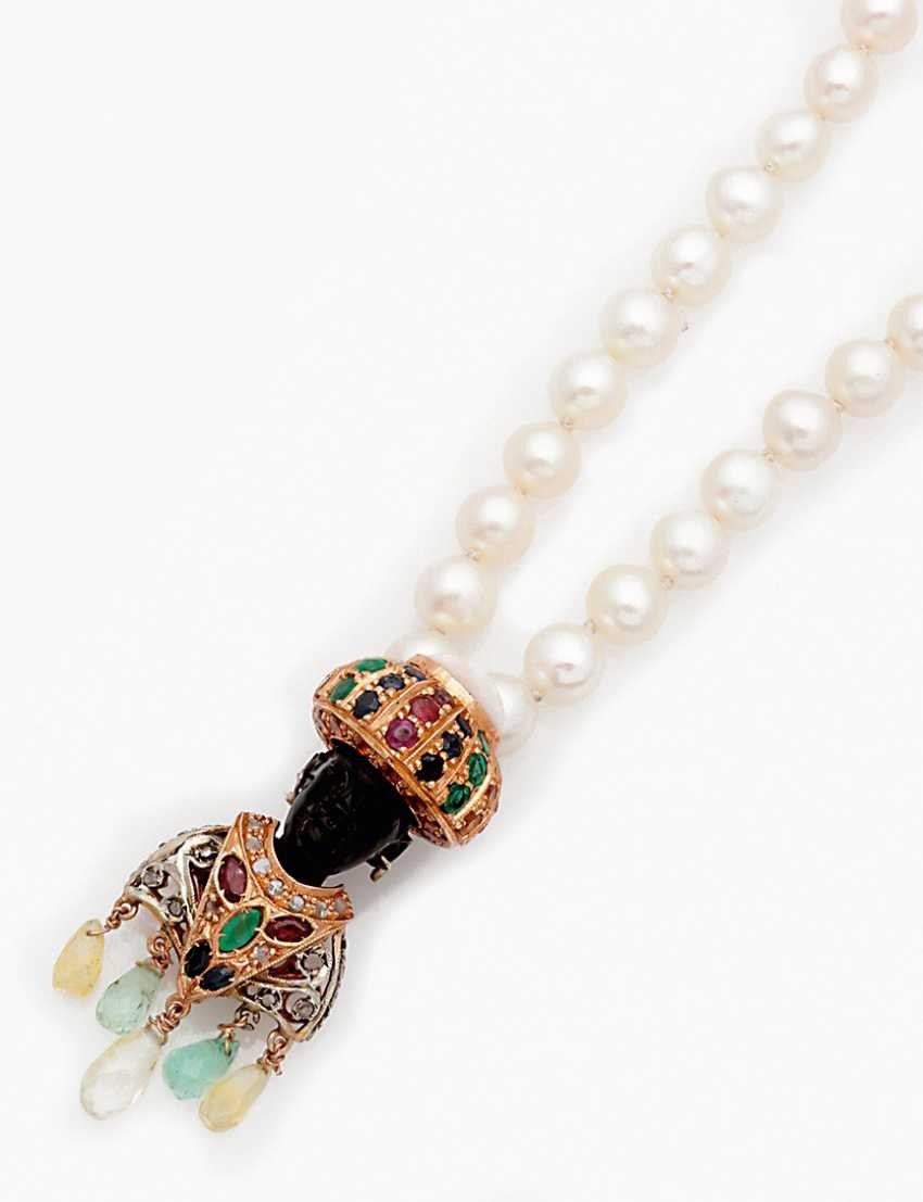 Pearl necklace with Venetian Mohr trailer - photo 1