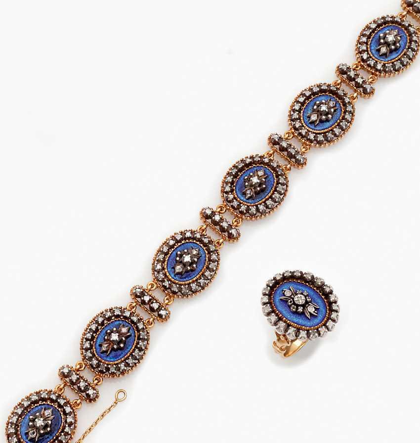 Belle Epoque-Diamantarmband mit Ring - photo 1
