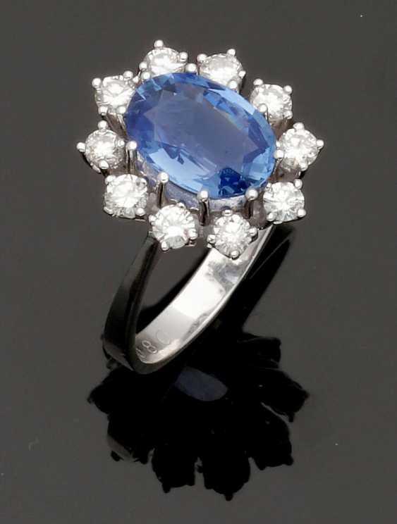 Representative Tanzanite And Diamond Ring - photo 1