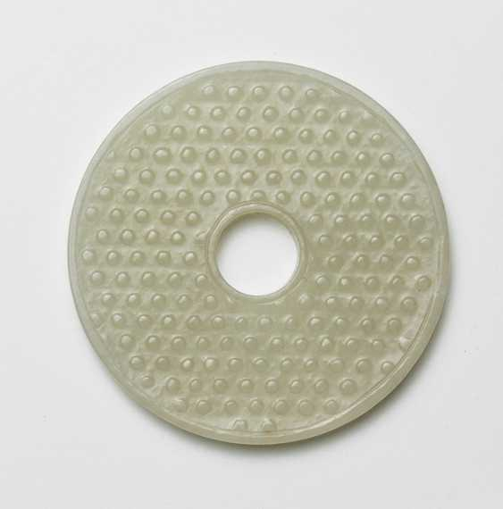 Bi-disk made of Jade in the archaic style - photo 2