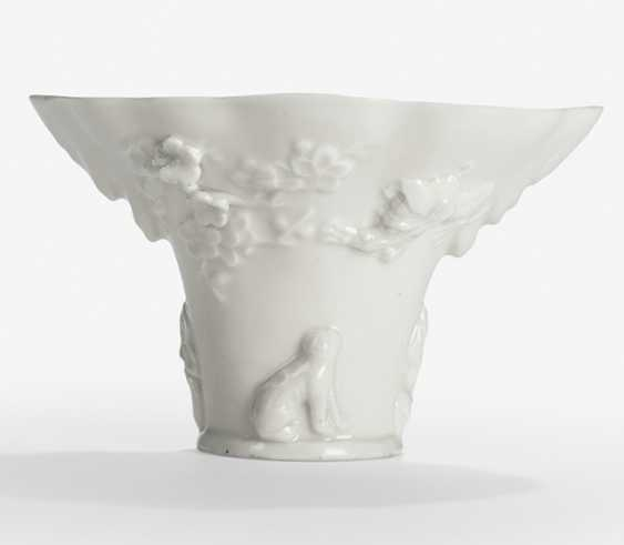 Wine Cup made of Dehua Ware with dragon and animal decoration in Relief - photo 1