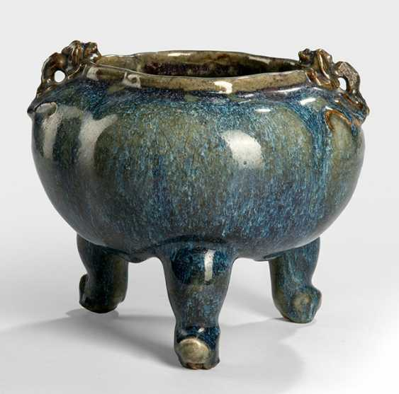 Turquoise-blue incense burner from 'Shiwan'-goods - photo 1