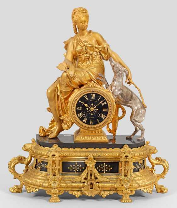 Napoleon III-Figurenpendule ´Diana` - photo 1
