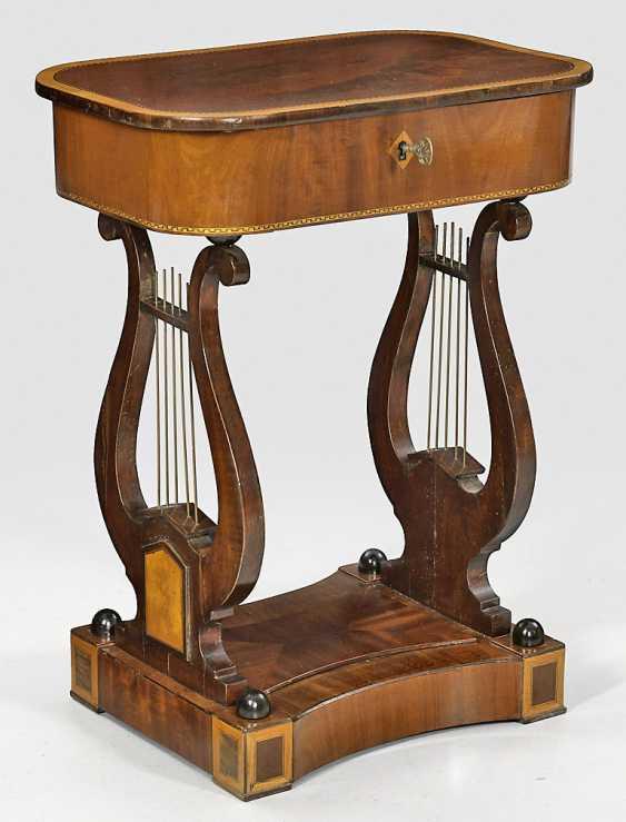 Biedermeier Sewing Table - photo 1